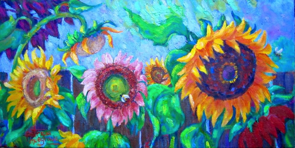 """Sunflower Season"" original fine art by Patricia Musgrave"