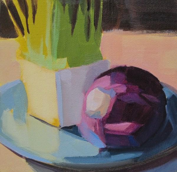 """Pet Grass & Purple Cabbage"" original fine art by Robin Rosenthal"