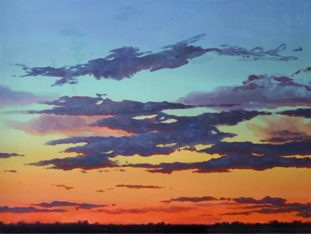 """High Desert Sunset"" original fine art by K.R. McCain"