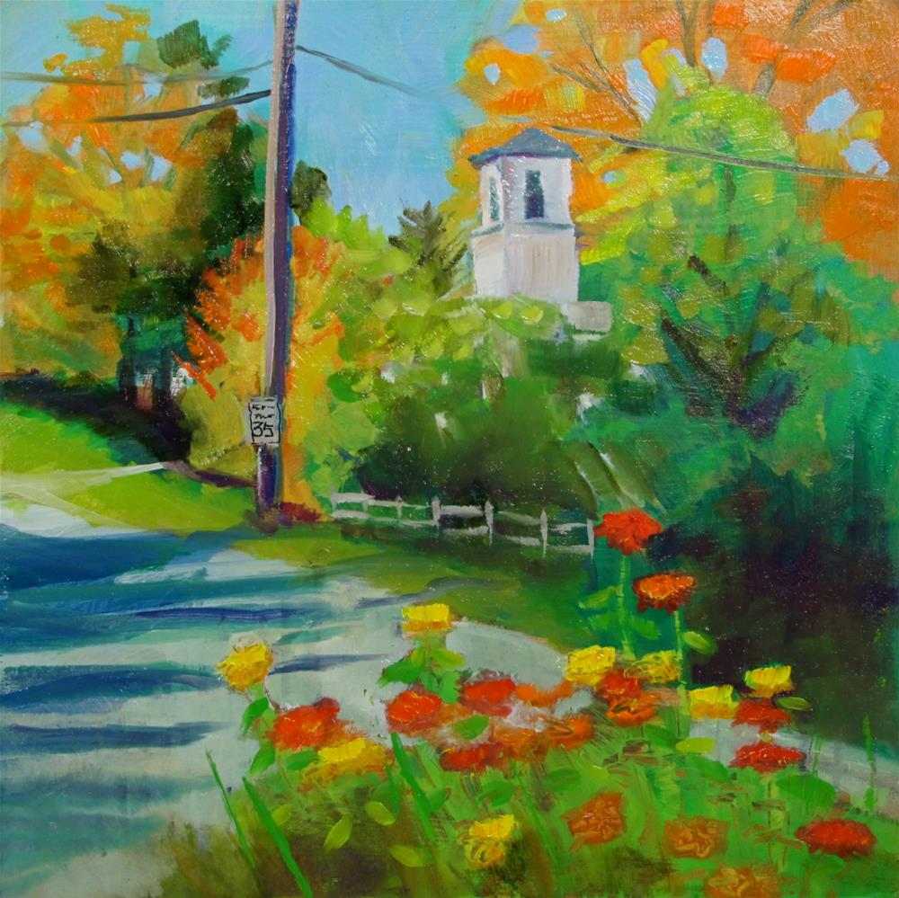 """Autumn Crossroads"" original fine art by Christine Holzschuh"