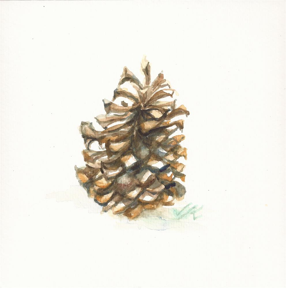 """Ponderosa Cone, 7/2016"" original fine art by Jean Krueger"