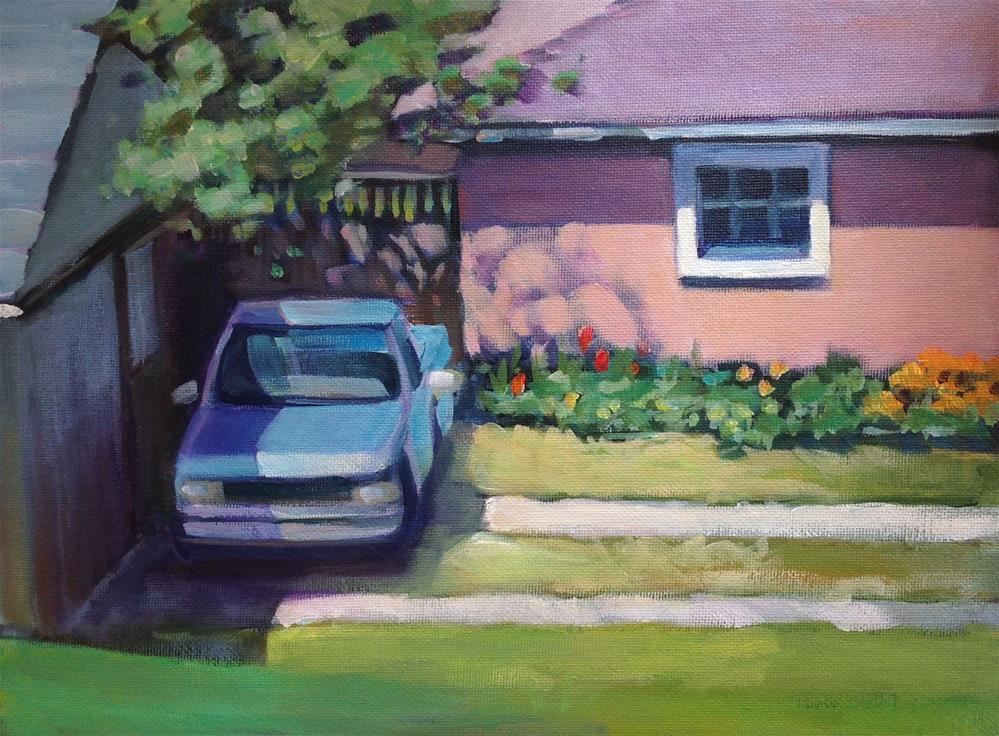"""My Neighbor's Truck"" original fine art by Susan Suraci"