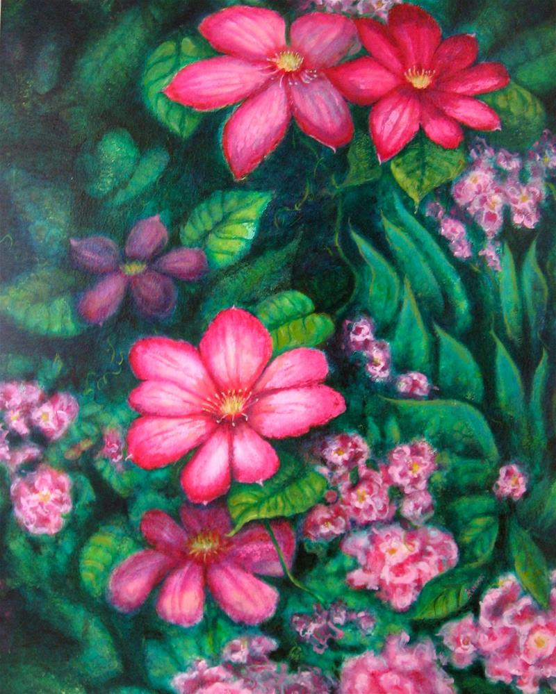 """In The Pink"" original fine art by Karen Roncari"