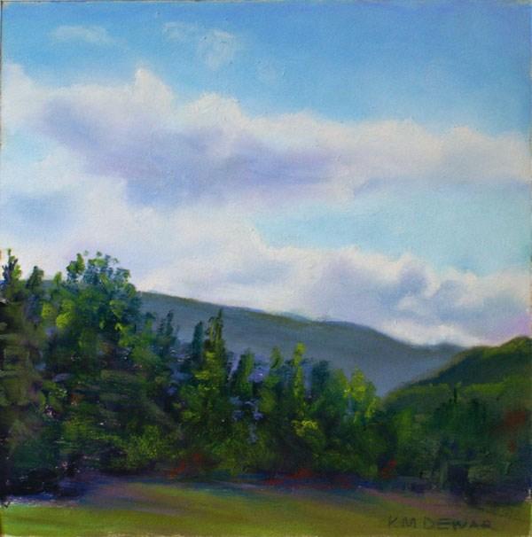 """Restful Country Road Trip"" original fine art by Kay Dewar"
