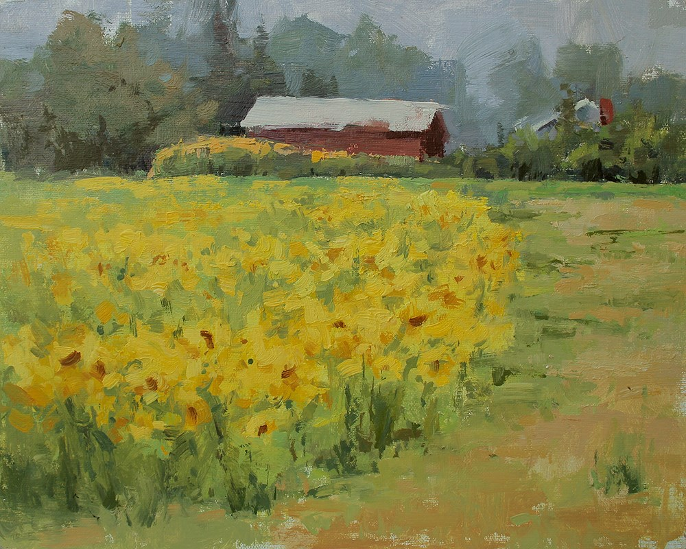 """Sunshine on a Cloudy Day"" original fine art by Melanie Thompson"