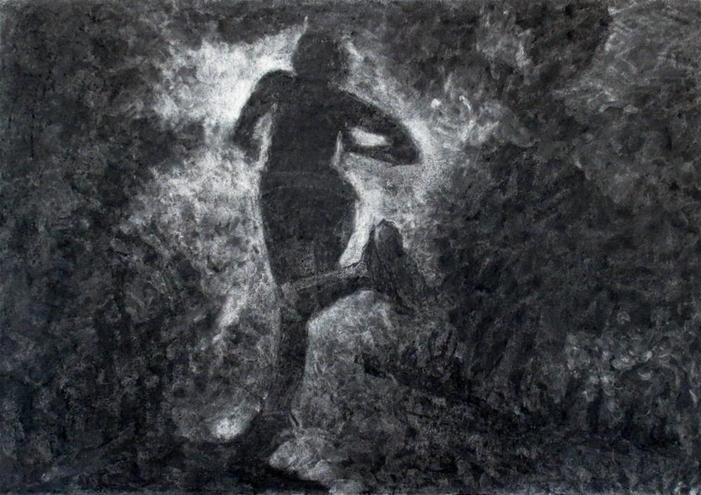 """The Runner"" original fine art by Steinunn Einarsdottir"