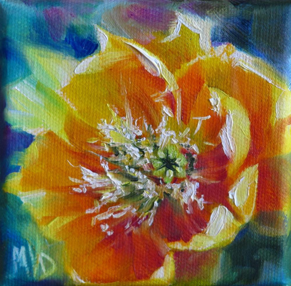 """Yellow Prickly Pear"" original fine art by Mary Van Deman"