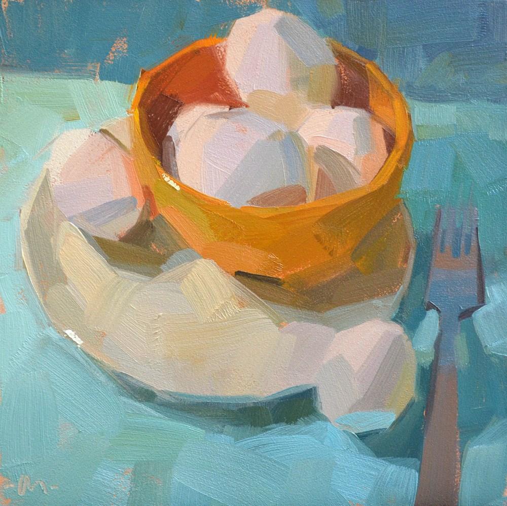 """""""Egg-a-licious"""" original fine art by Carol Marine"""