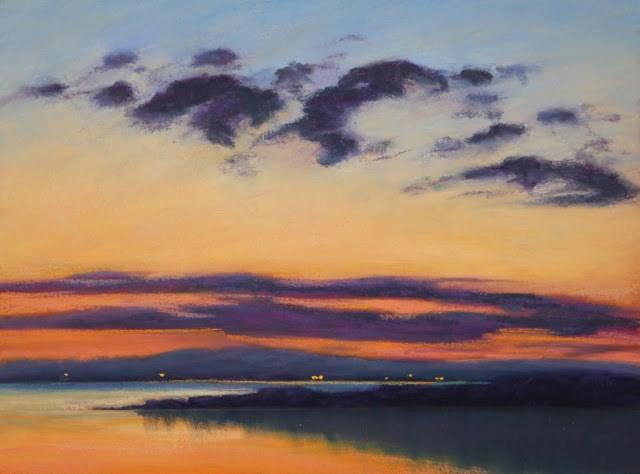"""Distant Lights"" original fine art by Sharon Lewis"