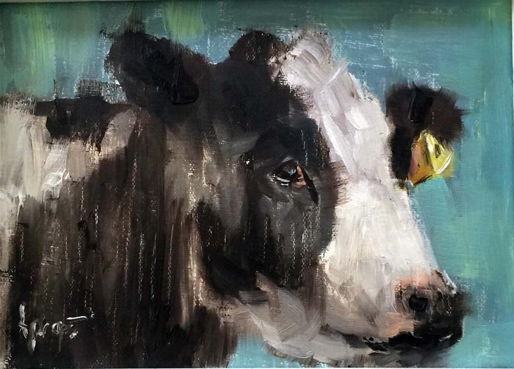 """Cow #2"" original fine art by Anne Marie Propst"
