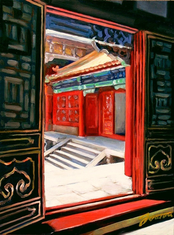 """Courtyard Entrance"" original fine art by Joanna Bingham"