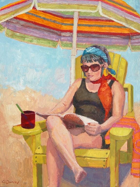 """""""Sunbathing"""" original fine art by Andrew Daniel"""