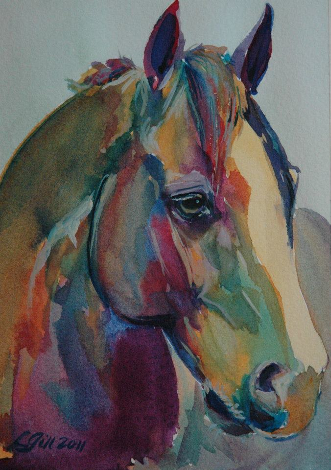 """Paint Pony 29"" original fine art by Lyn Gill"