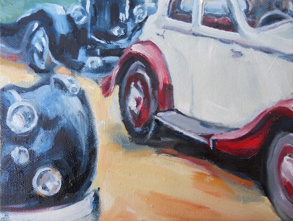 """Bentleys on Parade"" original fine art by Susan Baker"