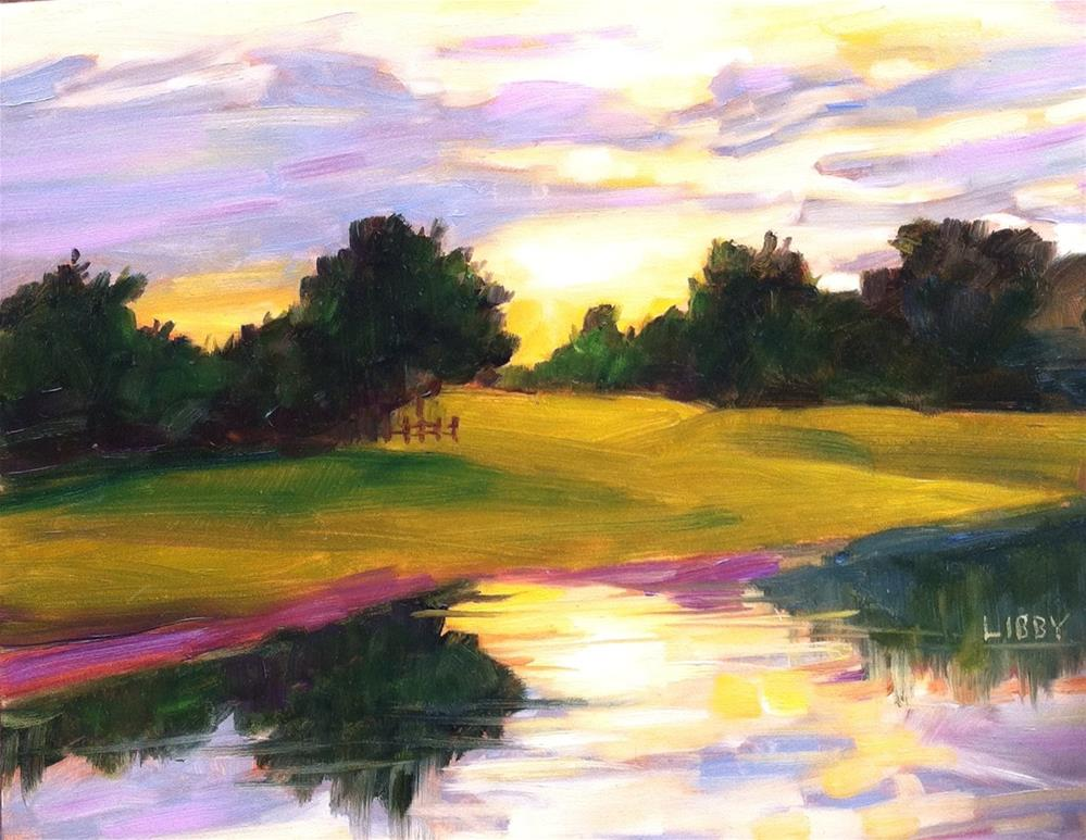 """Morning Reflection"" original fine art by Libby Anderson"