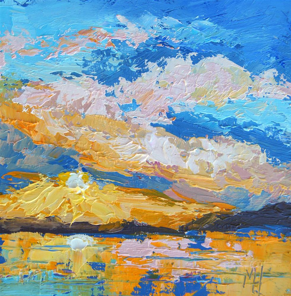 """Sunset 2, Miniature Art"" original fine art by Marion Hedger"