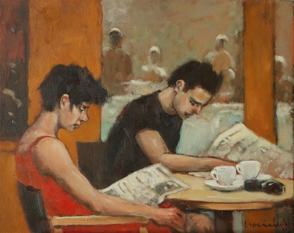 """Morning News"" original fine art by Lorraine Lewitzka"