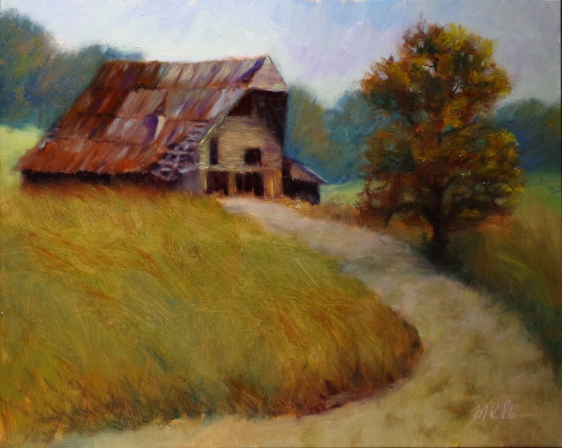 """Rustic Oversight"" original fine art by Marilyn R. Place"