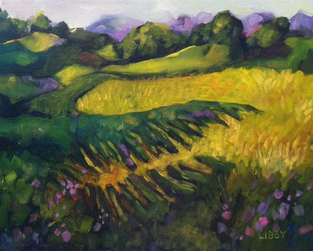 """Napa Vineyard View"" original fine art by Libby Anderson"