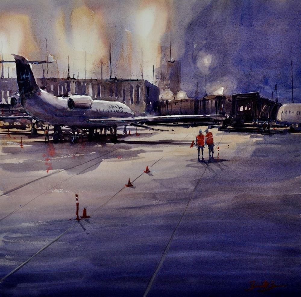 """First Flight Out"" original fine art by Brienne M Brown"