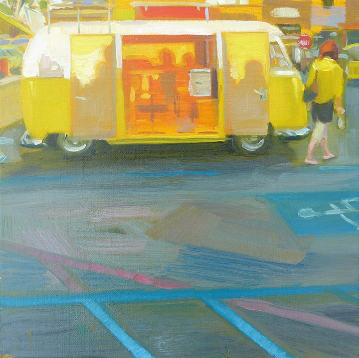"""Yellow Watchers - Day 28"" original fine art by Anette Power"