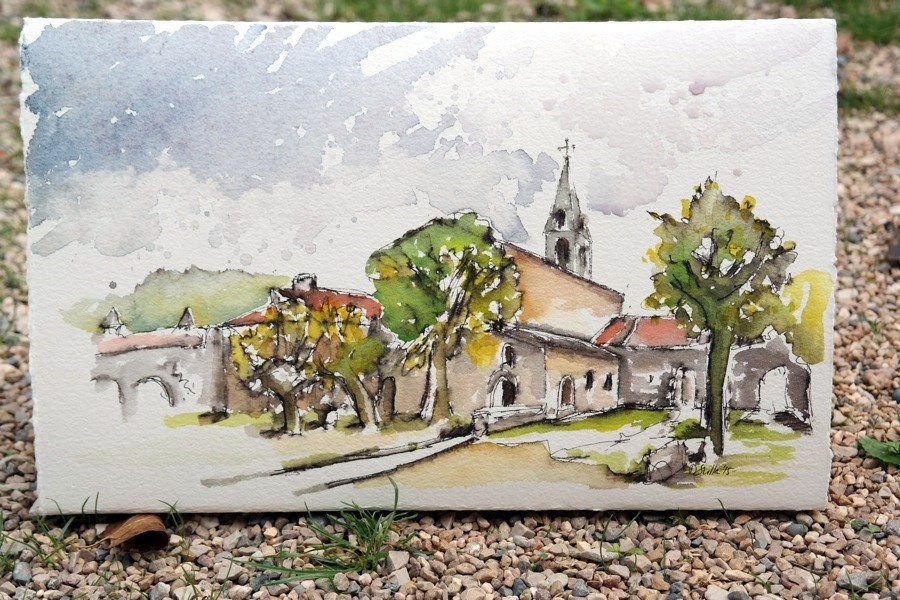 """1515 Abbaye de Thoronet"" original fine art by Dietmar Stiller"