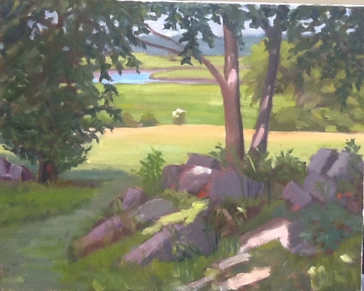 """Distant Marsh"" original fine art by Elizabeth Bish"