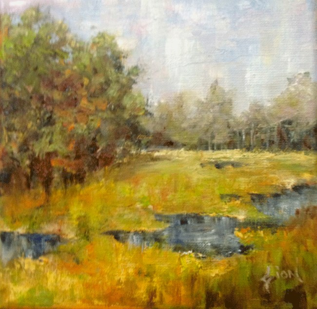 """Salt Marsh, York Harbor, ME"" original fine art by Sue Dion"