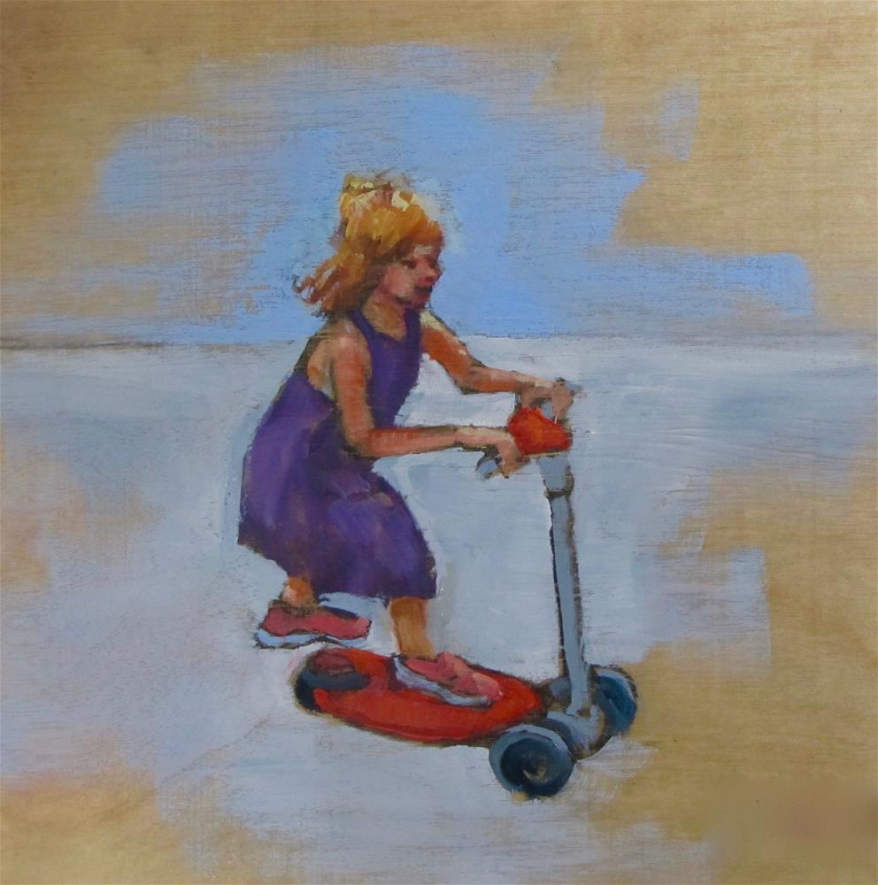 """Ready To Go"" original fine art by Christine Holzschuh"