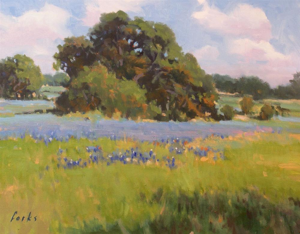 """Texas Blues"" original fine art by David Forks"