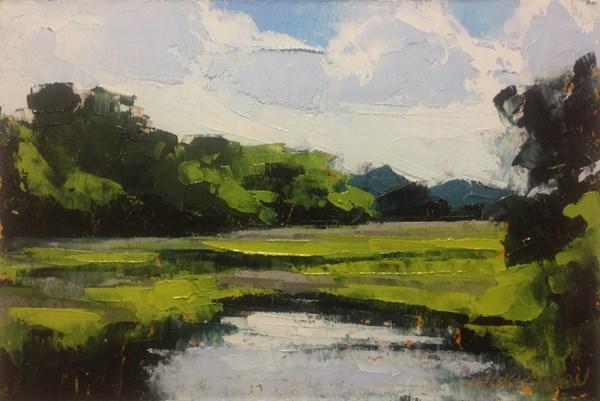 """Summer Marsh"" original fine art by Mary Gilkerson"
