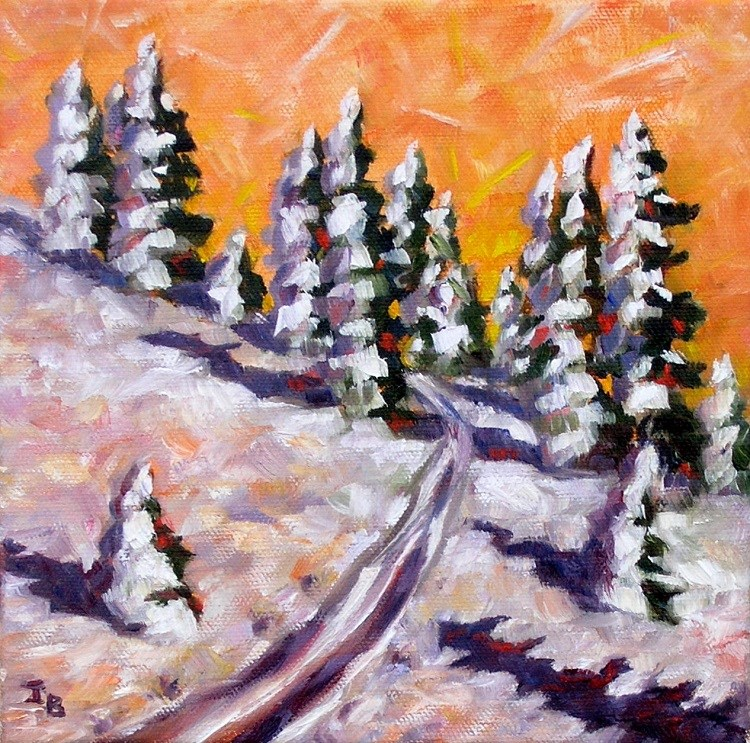 """Bright Winter"" original fine art by Irina Beskina"