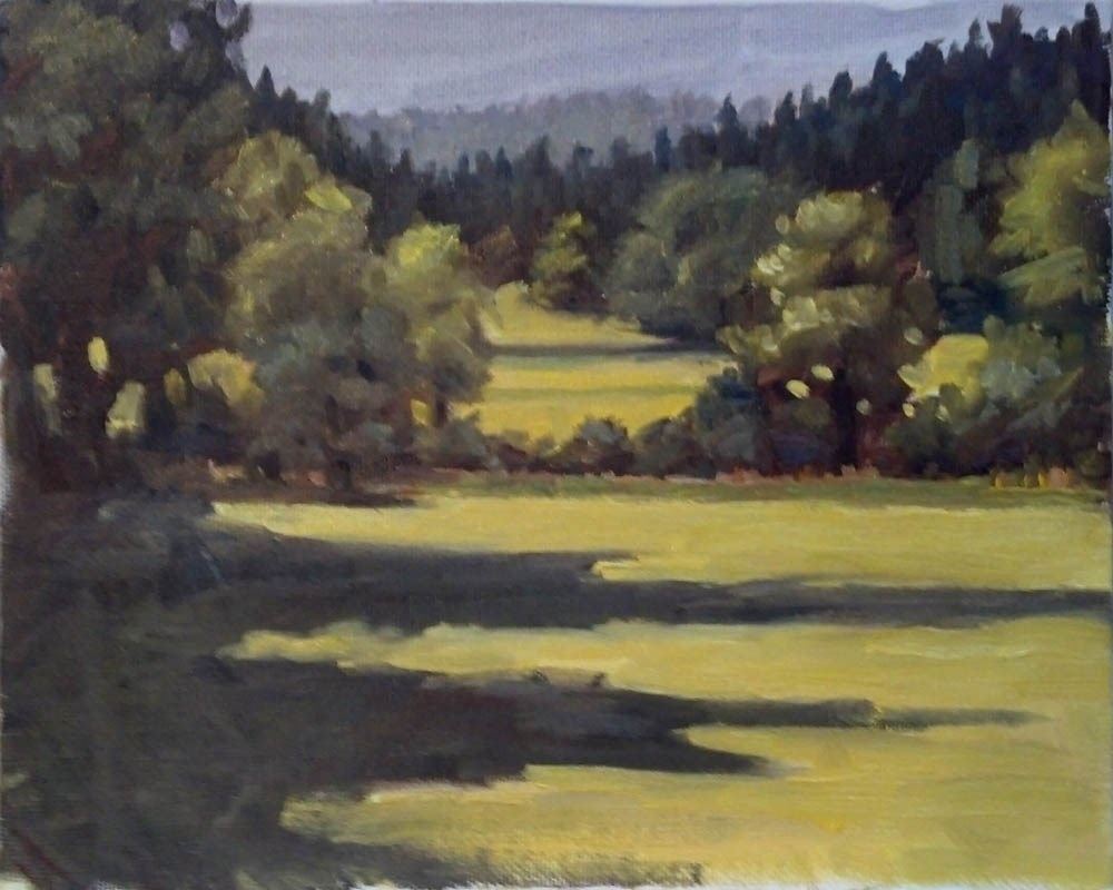 """Hay Field"" original fine art by Karen Boe"