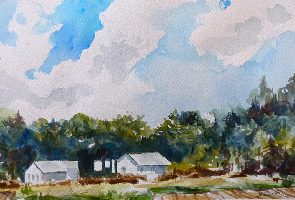 """Clothesline"" original fine art by Judith Freeman Clark"