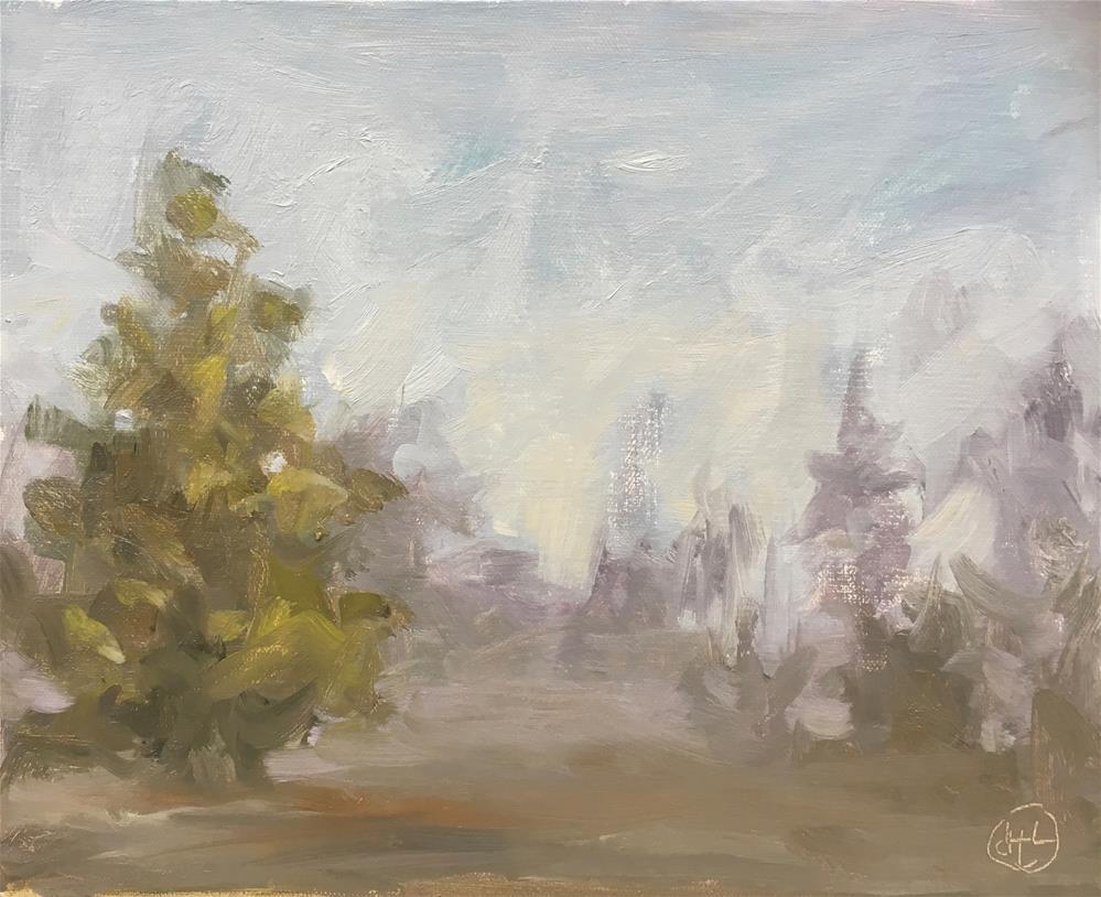 """""""heavy fog"""" original fine art by Dottie  T  Leatherwood"""