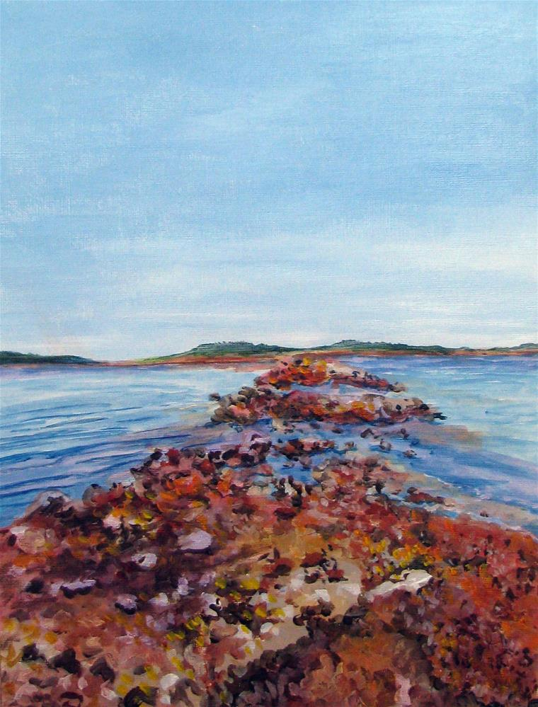 """Rocky Road"" original fine art by Nan Johnson"