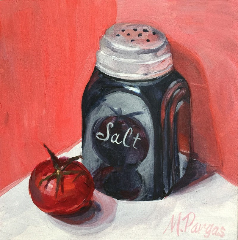 """""""Outlawed Shaker of Salt"""" original fine art by Mary Pargas"""