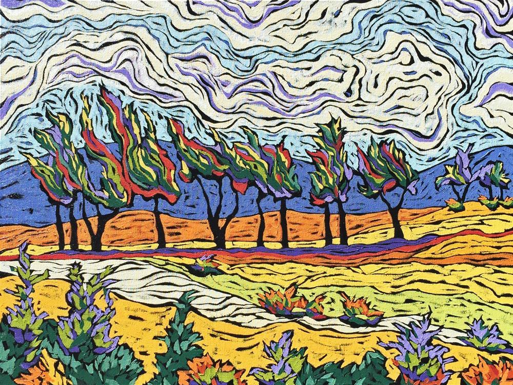 """Wind Rush"" original fine art by Monique Straub"