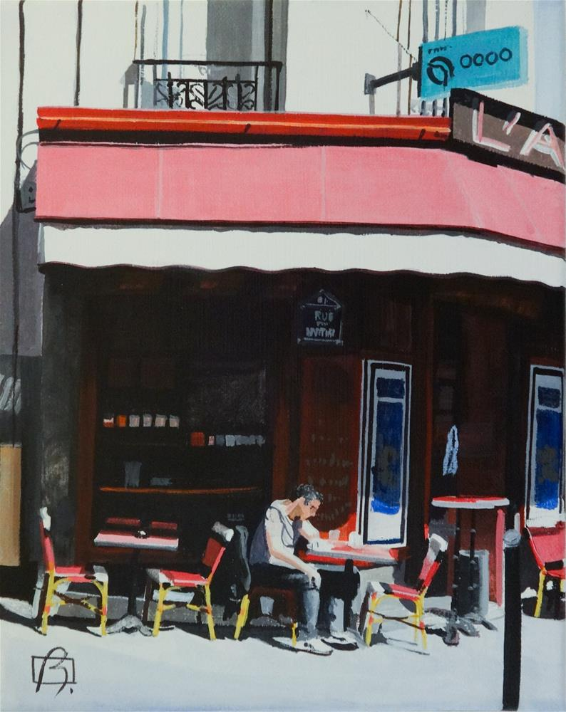 """Time for the Crossword"" original fine art by Andre Beaulieu"