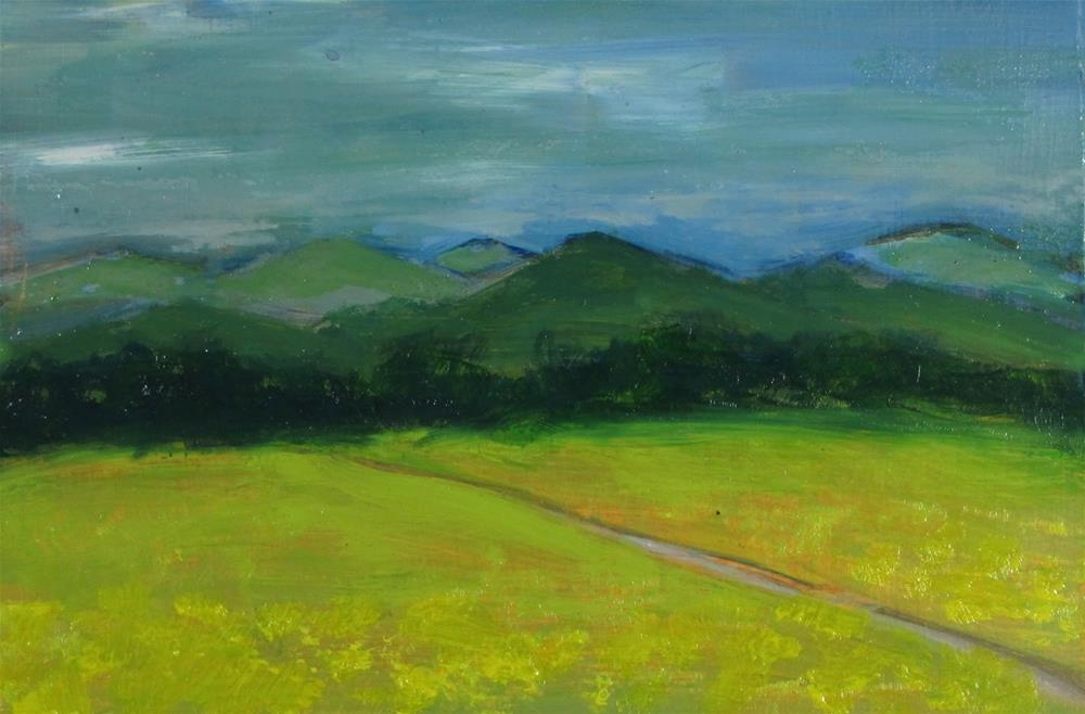 """Remembered Landscape #1  The Meadow"" original fine art by Christine Holzschuh"