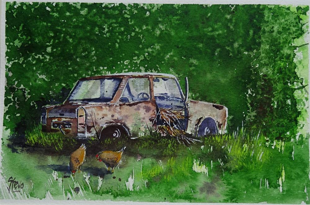 """Icon to Chicken Shack"" original fine art by Martin Stephenson"