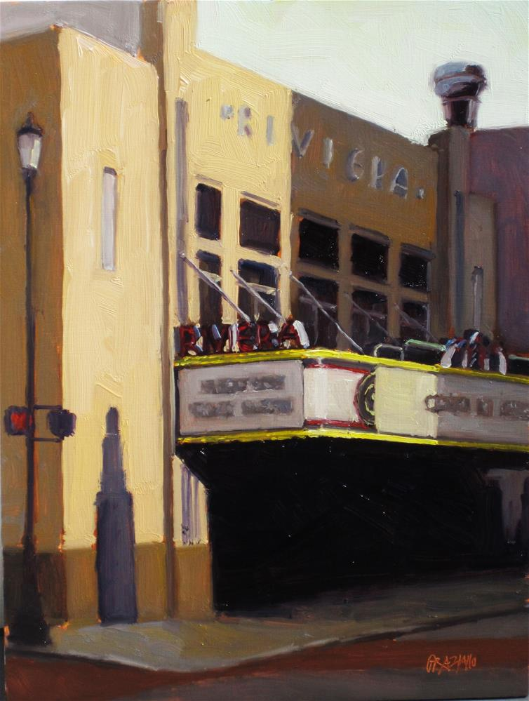 """Riviera Theater"" original fine art by Dan Graziano"