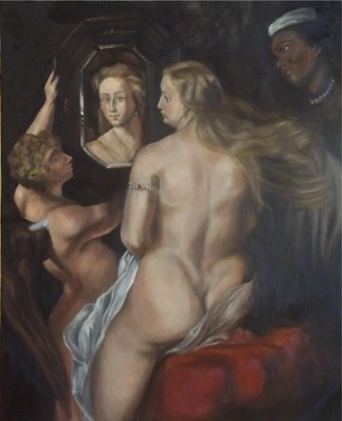"""Study of Rubens Venus"" original fine art by Amy VanGaasbeck"