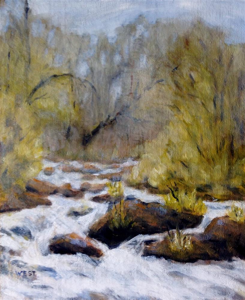 """Early Spring, Upper Colorado River"" original fine art by James West"