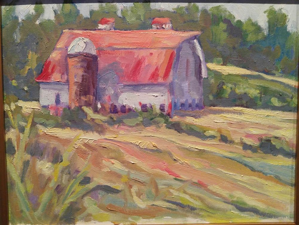 """Vermont Barn"" original fine art by angela scully"