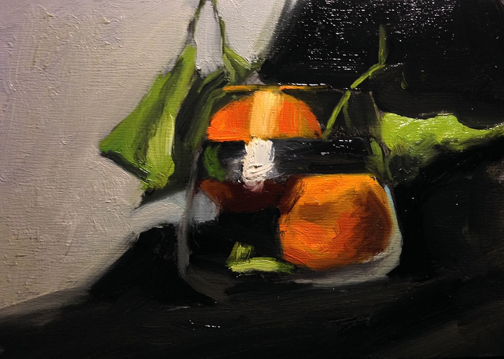"""Satsumas in Glass"" original fine art by Chris Beaven"