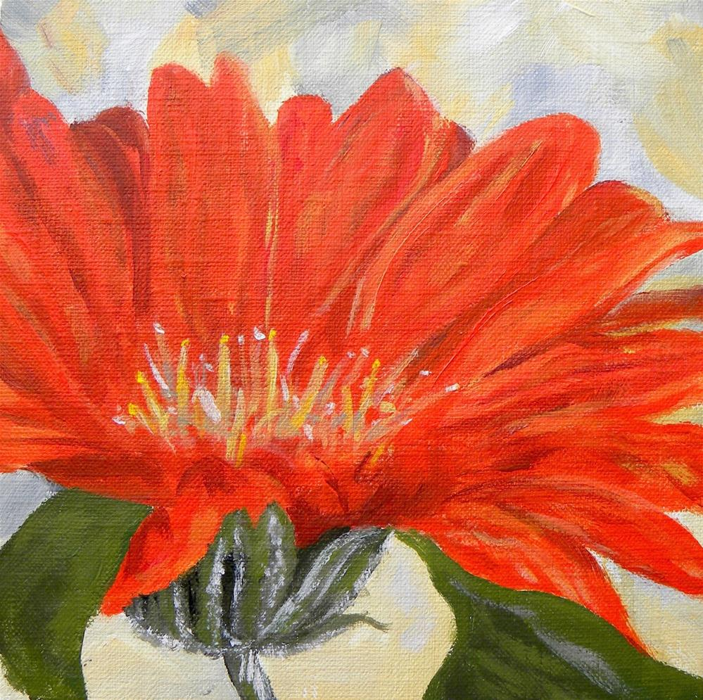 """Orange Dahlia"" original fine art by cheryl buhrman"