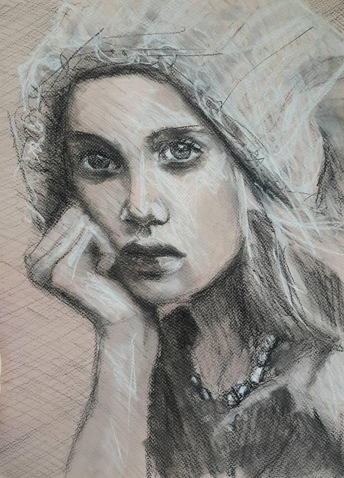 """So..?"" original fine art by Rentia Coetzee"