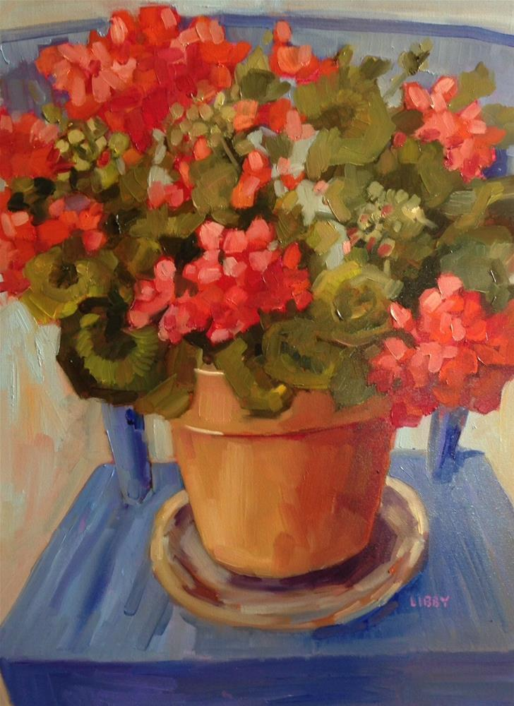 """""""Have a Seat"""" original fine art by Libby Anderson"""