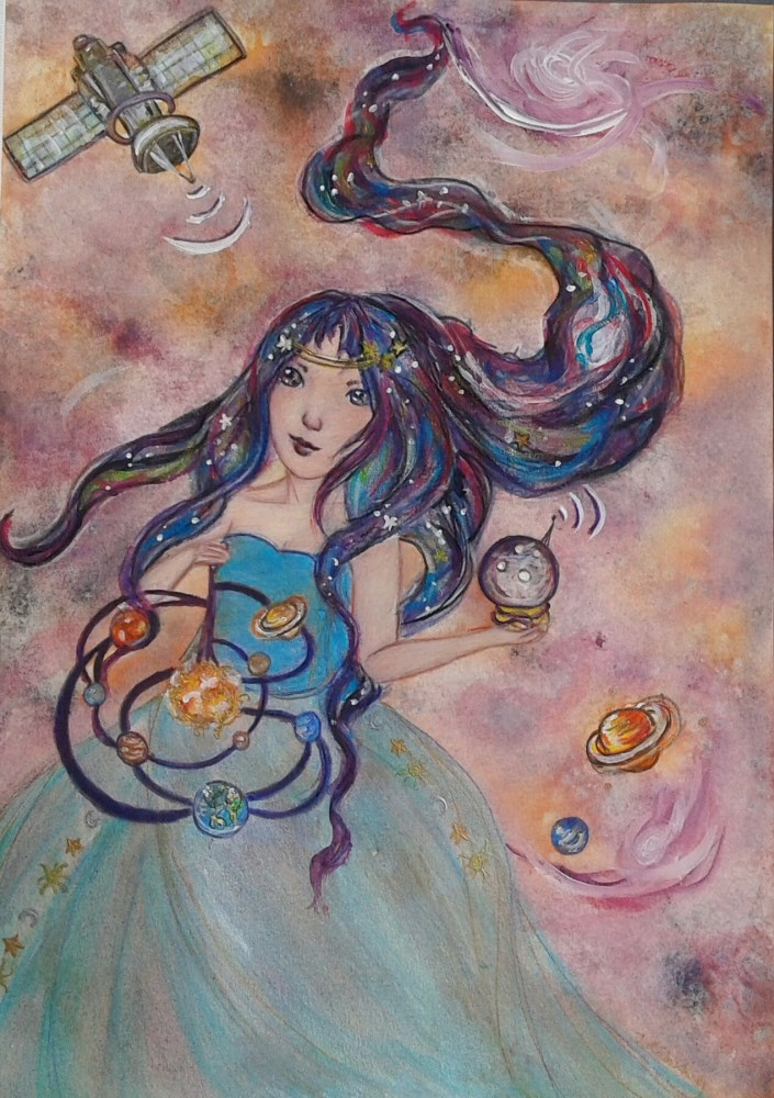 """Intergalactic"" original fine art by Julie Rabischung"